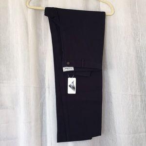 LL Bean Lycra stretch cotton navy pants 4 S